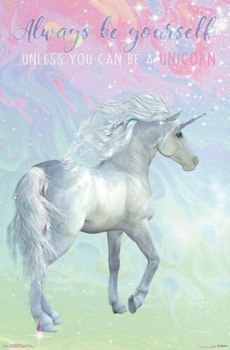 UNICORN - ALWAYS BE YOURSELF QUOTE POSTER - 22x34 - 17065