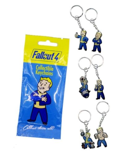 Fallout 4 Collectible Vault Boy 1 x Keychain Key Ring Blind Bag 6 designs
