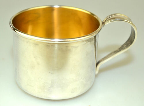 ANTIQUE AMSTON STERLING SILVER SMALL BABY CUP CLASSIC DESIGN ON HANDLE NO MONO