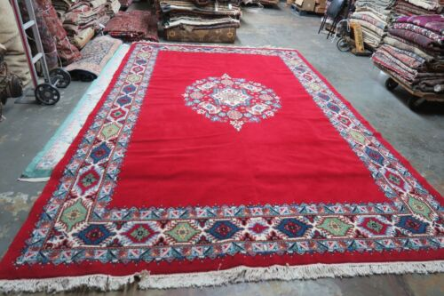 Moroccan Extra Superieure Berber Nomad Hand Knotted Wool Rug 8'3 x 12'8 Morocco
