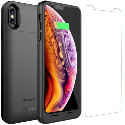 iPhone XS Max Battery Case Charger Cover with Qi Wireless Charging by Alpatronix