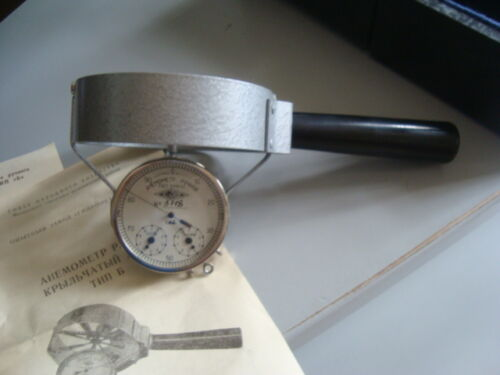 VINTAGE RUSSIAN SOVIET ANEMOMETER made in  1966 USSR #   3118 with box
