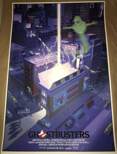Ghostbusters Laurent Durieux In Hand Mondo Galley Show 2018 poster print