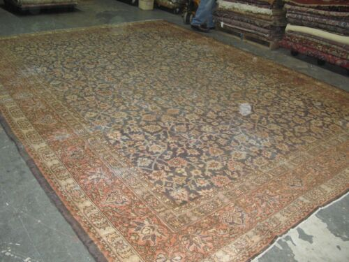 Vintage DISTRESSED Turkish Oushak Sivas Rug Wool Hand Knotted 11'2 x 14'9