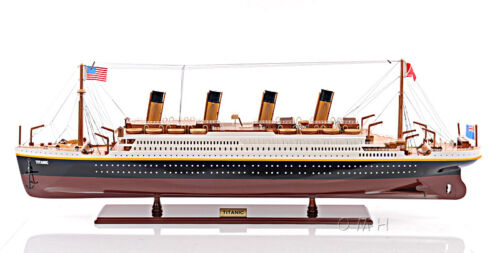 "Titanic Ocean Liner Wooden Model 32"" White Star Line Cruise Ship Boat New"