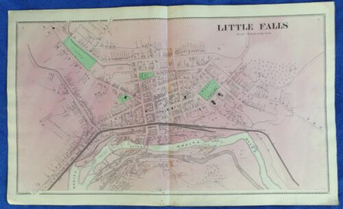 1869 NY Village of Little Falls Herkimer County Map from Atlas