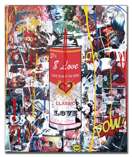 Spray LOVE CAN 2 Limited Edition 24/88 Print on canvas signed, by Dr8 Love.COA