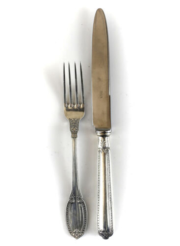 2pc Buccellati Sterling Silver Youth Fork & Knife in Empire