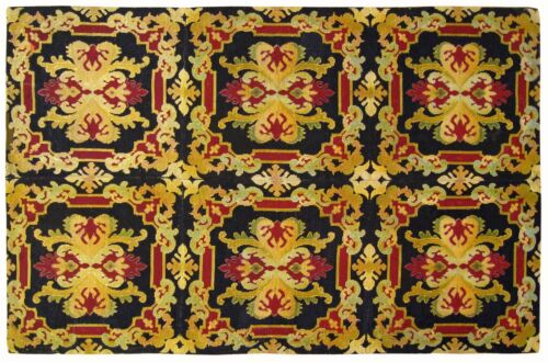 Antique European Decorative Needlepoint Carpet, in Small size
