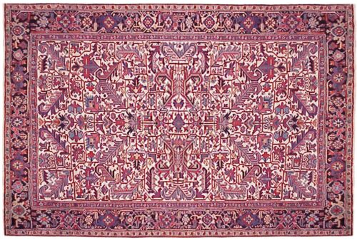 Vintage Traditional Geometric Oriental Rug, in Room Size w/ FREE SHIPPING & PAD!