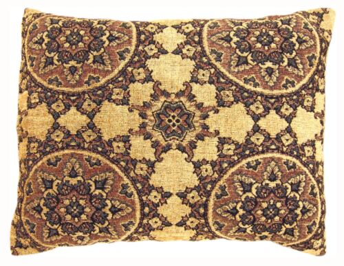 """Vintage Decorative Tapestry Pillow with Circles Design; size 24"""" x 20""""!"""