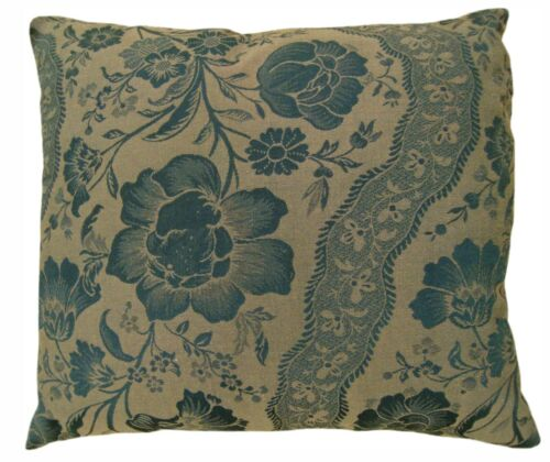 """Vintage Decorative Pillow with Directional Floral Pattern; size 22"""" x 20""""!"""