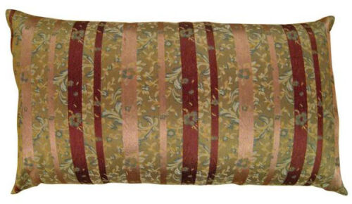 """Vintage Decorative Chinoiserie Pillow with Stripes; size 34"""" x 18"""""""