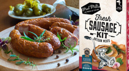FRESH SAUSAGE Kit - make Gourmet ARTISAN MEATS at home - incl RECIPES Mad Millie <br/> Includes Stainless steel meat grinder & all Attachments