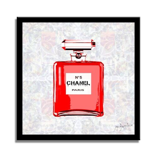 Chanel Red – Print Limited Edition on Fine Art Paper Signed, Pop Art,  Luxury.
