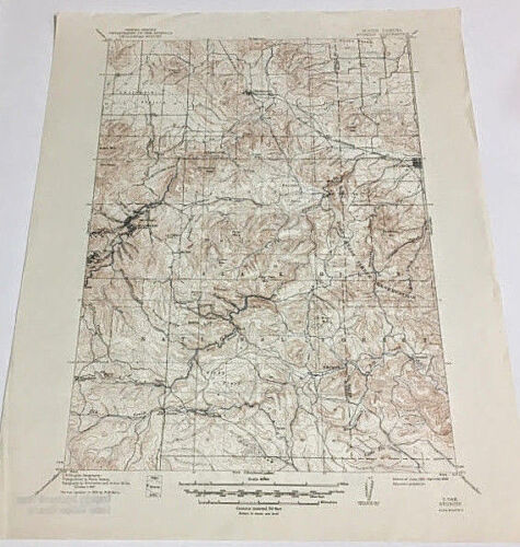 Sturgis South Dakota Quadrangle Topographical Map Edition of 1915 Reprint 1950