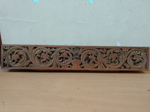 Wall panel Wooden Panel Floral Handcarved Beam Antique Estate Home Decor US Rare