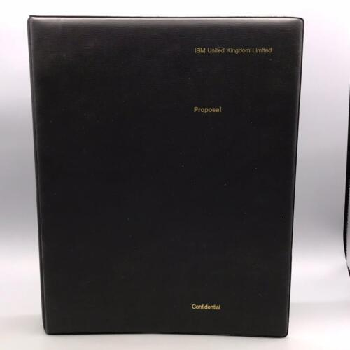 Vintage IBM United Kingdom Four Ring Binder Design Advertising Technology