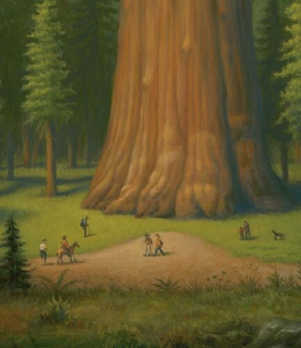 General Sherman Giant Forest of Sequoia Art by Mark Ryden