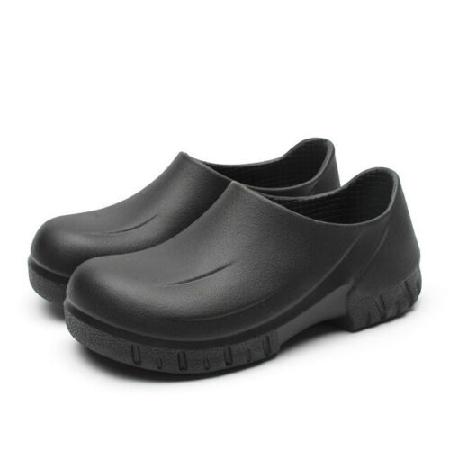 NEW Mens Non-slip Chef Shoes Kitchen Oil-resistant Waterproof Work Leather Boots