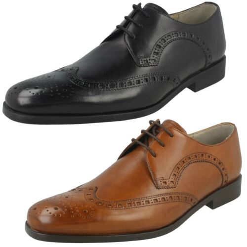 Mens Clarks Amieson Limit Smart Black Or Tan Leather Lace Up Shoes G Fitting e616ea940a4