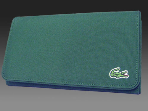 New Authentic Vintage LACOSTE Ladies PURSE WALLET Casual 2.6 Forrest Green
