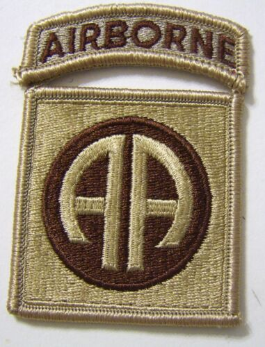 82nd AIRBORNE DIVISION PATCH / TAB SET - DESERT TAN COLOROther Militaria - 135
