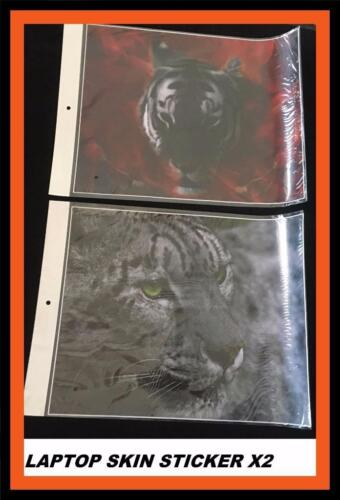 *LAPTOP SKIN STICKER LEOPARDS HEAD AND TIGER HEAD HIGH QUALITY* X 2