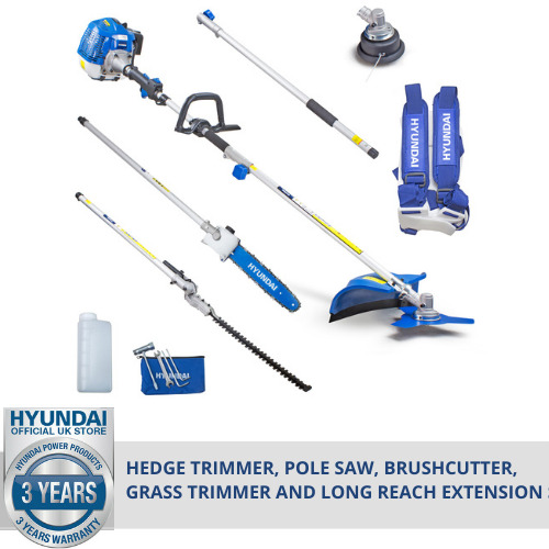 🔵 Petrol Garden MULTI TOOL 5 in 1 Chainsaw Grass Trimmer Strimmer Polesaw 🔵 <br/> ☑️3 YR WARRANTY, UK AFTER SALES & PARTS = PEACE OF MIND