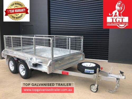 10x5 TANDEM HEAVY DUTY HOT DIP GALVANISED TRAILER, ELECTRIC BRAKES, 2800KG ATM
