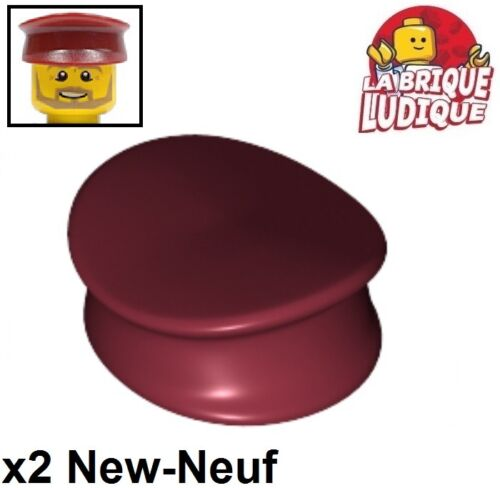 Lego 2x Minifig headgear casquette cap Curved rouge//red 11303 NEUF