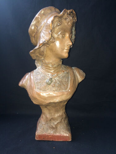 antique terracotta buste approximately 1880
