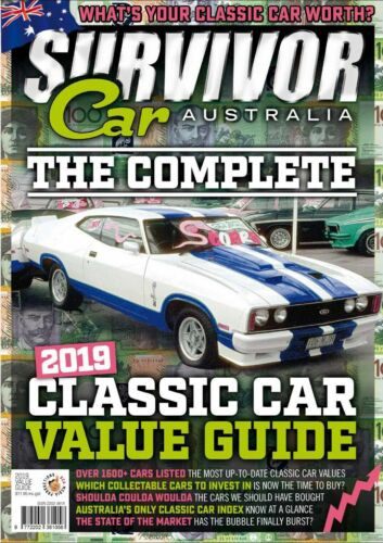 SURVIVOR CAR AUSTRALIA 2019 CLASSIC CAR VALUE GUIDE FALCON GT MONARO GTS CHARGER