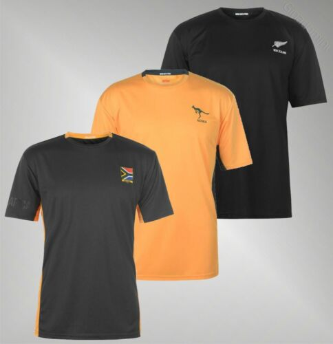 Mens Team Rugby Short Sleeves Crew Lightweight Polo T Shirt Sizes S-XXL