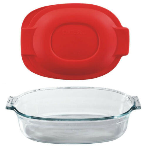 Pyrex roaster oval glass storage 2.5qt bake serve store