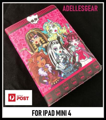 KIDS OR CHILDRENS  APPLE IPAD MINI 4 - MONSTER HIGH PINK  DESIGN