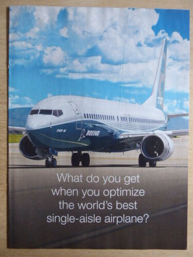 9/2011 PUB 3 PAGES AVION BOEING 737 MAX AIRLINER AIRLINES ORIGINAL AD