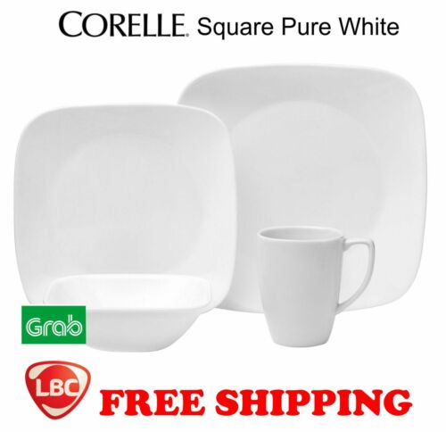 Corelle square pure white 16PC dinnerware set