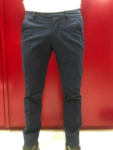ROY ROGER'S PANTALONE CHINOS UOMO NEW ROLF MAN STRETCH BLUE SCONTO DEL 15%