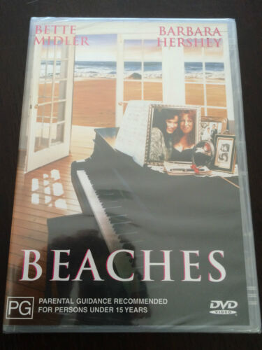 """Beaches"" Bette Midler, Barbara Hershey (DVD, Region 4) **NEW, PLASTIC WRAPPED**"