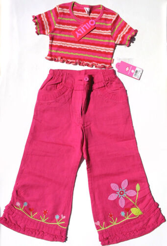 Oilily ✿ NWT ✿ GIRLS Designer Embroidered Pink Pants & Top ✿ sz 104 / 3 - 4 ✿