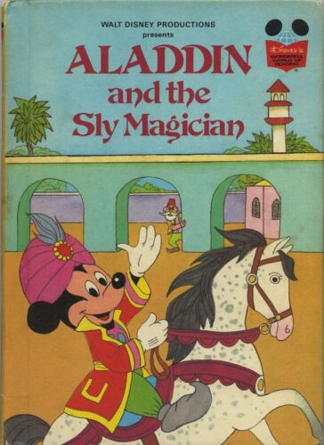 Aladdin and the Sly Magician by Disney FREE AUS POST good used cond hardback