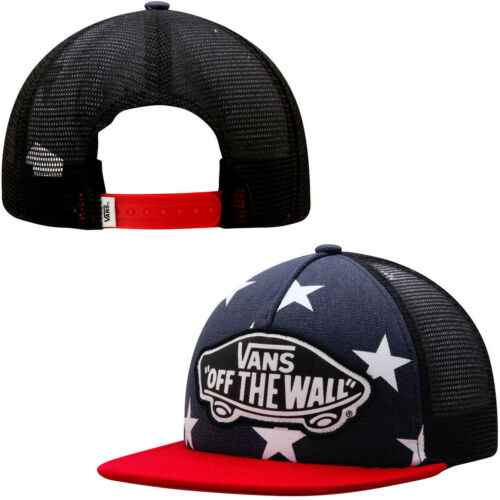 Vans Off The Wall Spiaggia Bambina USA Stars Caban Trucker Cappello Nwt Uno Size