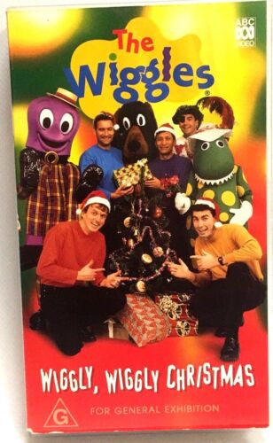 VHS Video Cassette Wiggles  Wiggly Wiggly Christmas ABC Video Very Good