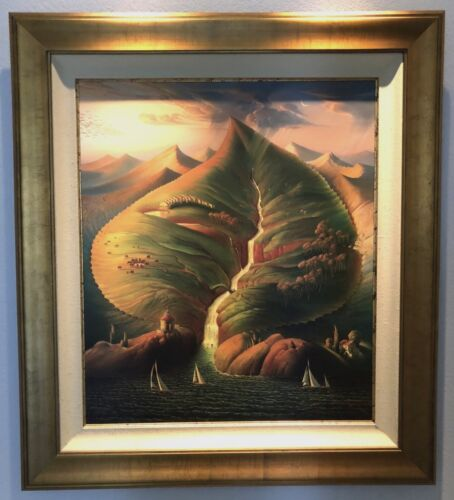 VLADIMIR KUSH - OCEAN SPROUTS - 228/250 - MUSEUM FRAMED - S/N LIMITED ED CANVAS