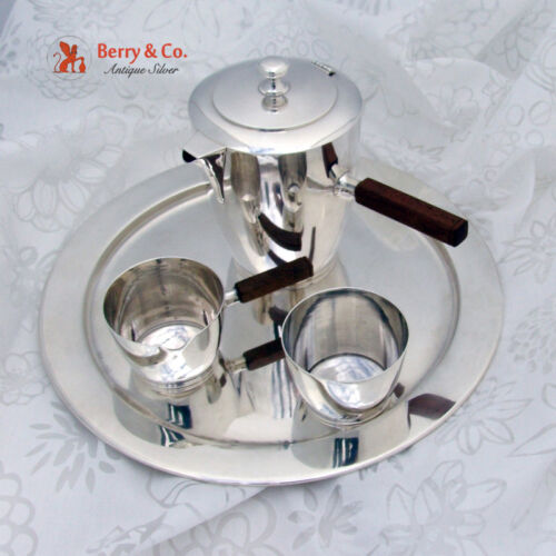Arts and Crafts 4 Piece Coffee Set Porter Blanchard Sterling Silver