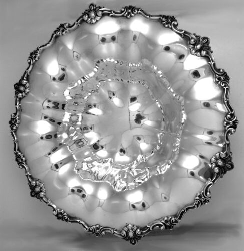 Elaborate Scroll Bowl Shreve and Co Sterling Silver 1900