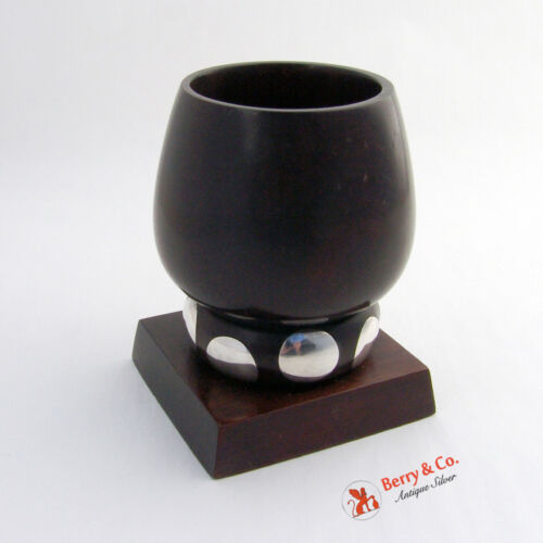 William Spratling Wood and Sterling Silver Cup