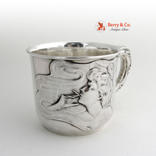 Art Nouveau Cup Unger Brothers Sterling Silver 1910
