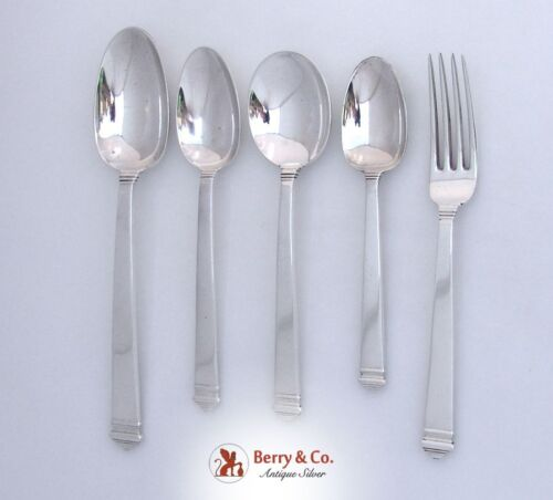 Tiffany And Co Hampton Sterling Silver 5 Place Piece Set 1934